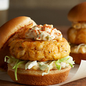 Creole Cod Cake Sliders with Cajun Tartar Sauce